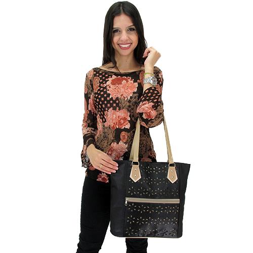 cf981ea9c Bolsa FBF Linha Popular TOP 710-990 Preta - Fabrica de Bolsas Femininas  Atacado