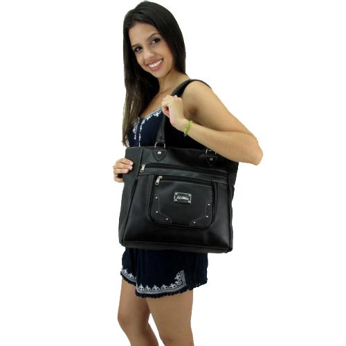 8d69a3990 Bolsa FBF Linha Popular TOP 740-990 Preta - Fabrica de Bolsas Femininas  Atacado